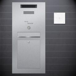 Edelstahl Briefkasten Unterputz Sprechanlage Design preiswert Audio Klingeltaster