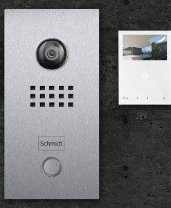 Klingelschild mit Video in Edelstahl-Ausführung