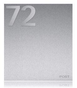 Hausnummer in Edelstahl Detailansicht