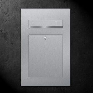 Briefkasten Edelstahl B2