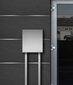 briefkasten edelstahl b1 steel freistehend z e. Black Bedroom Furniture Sets. Home Design Ideas