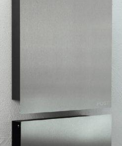 Edelstahlbriefkasten und Zeitungsbox mit Beschriftung Wandmontage