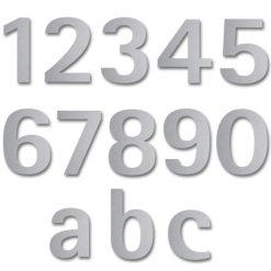 Hausnummern im Edelstahl Style - Übersicht