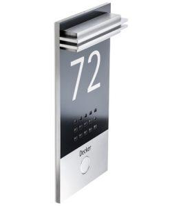 Moderne Türklingel aus Edelstahl inkl Hausnummer
