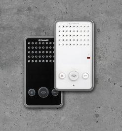 Türsprechstelle in den Ausführungen schwarz und weiß - Innen Montage