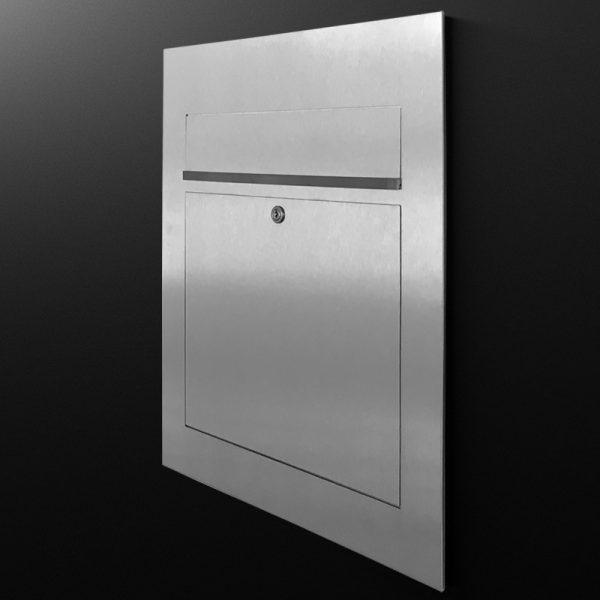 hochwertiger edelstahl design briefkasten b3 z e. Black Bedroom Furniture Sets. Home Design Ideas
