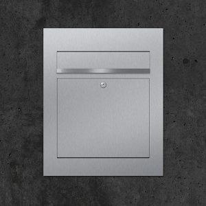 Briefkasten Edelstahl B3
