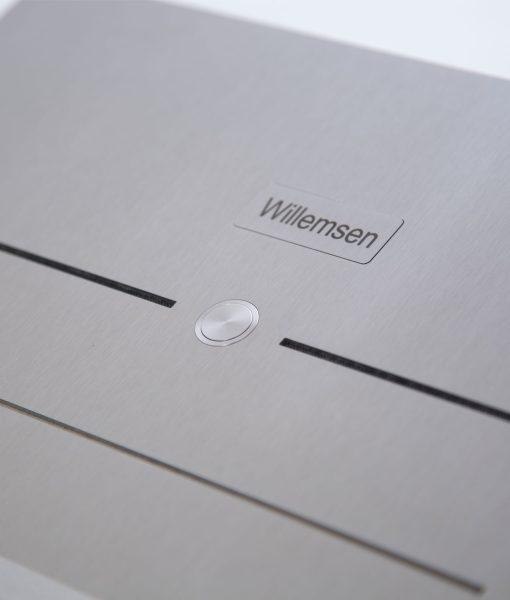 Edelstahltürklingel Briefkasten mit Taster und Türsprechanlage