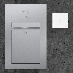 Briefkasten Edelstahl Unterputz Audiosprechstelle