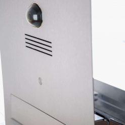 Durchwurfbriefkasten Edelstahl mit Kamera
