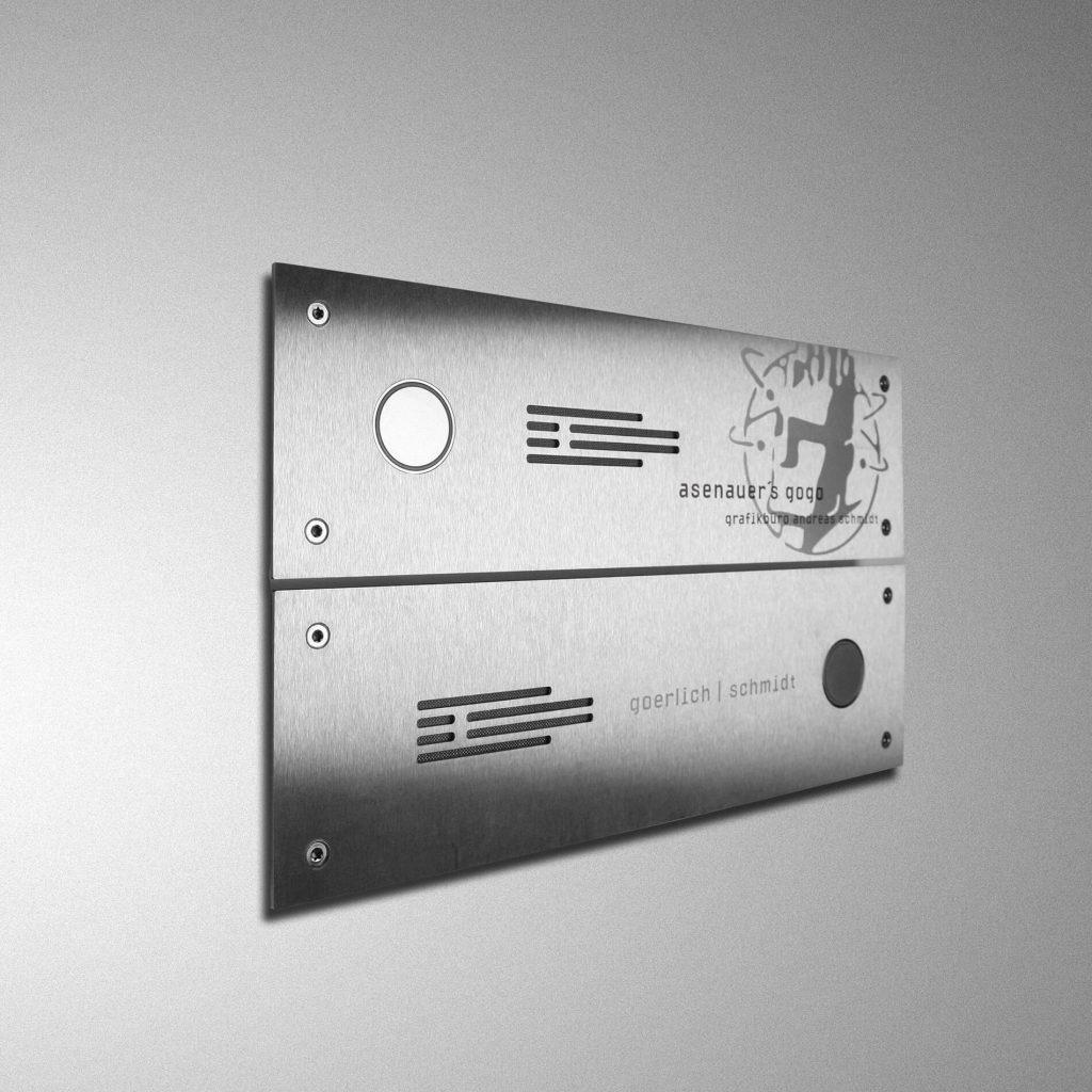 lasergravur, beschriftung edelsahl, frontplatten nach maß
