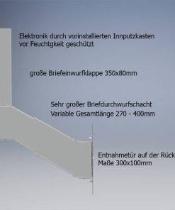 Durchwurfbriefkasten für Mauerwerk