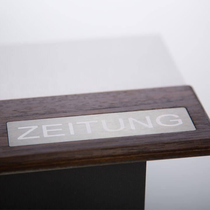 briefkasten zeitungsfach b1 teak freistehend z e. Black Bedroom Furniture Sets. Home Design Ideas