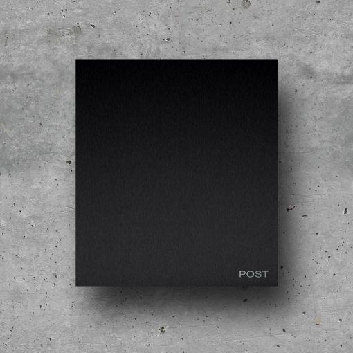 briefkasten schwarz modern edelstahl