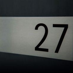 Briefkasten Aufputz mit Beschriftung