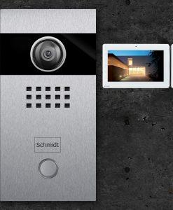 Videosprechanlage mit Klingeltaster und Kamera