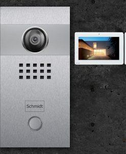 Videosprechstelle-Maxi- und Videosprechstelle mit Klingel in Edelstahl