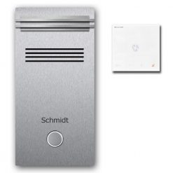 Türsprechanlage Edelstahl Audio Klingeltaster Namensbeschriftung Innensprechstelle Lichtleiste beleuchtet LED