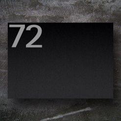 Briefkasten Edelstahl Schwarz Hausnummer Namensbeschriftung