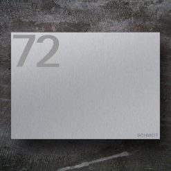 Briefkasten Edelstahl Hausnummer Zeitungsfach Wandmontage Beschriftung