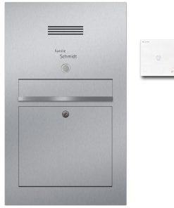 Briefkasten Edelstahl Türsprechanlage Audio Klingeltaster beleuchtet Unterputz
