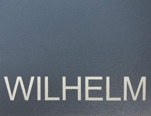 Briefkasten Edelstahl Pulverbeschichtung RAL7016 Anthrazit Beschriftung Name