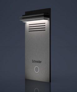 Türklingel Edelstahl Beleuchtung LED Untzerputz Aufputz Türsprechanlage