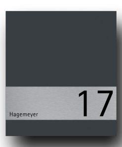 Briefkasten Edelstahl B1 Shield Hausnummer