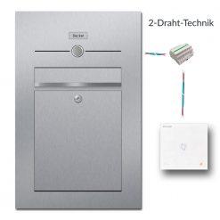 Briefkasten Edelstahl Audio Gegensprechanlage Innenstation 2 Draht Technik