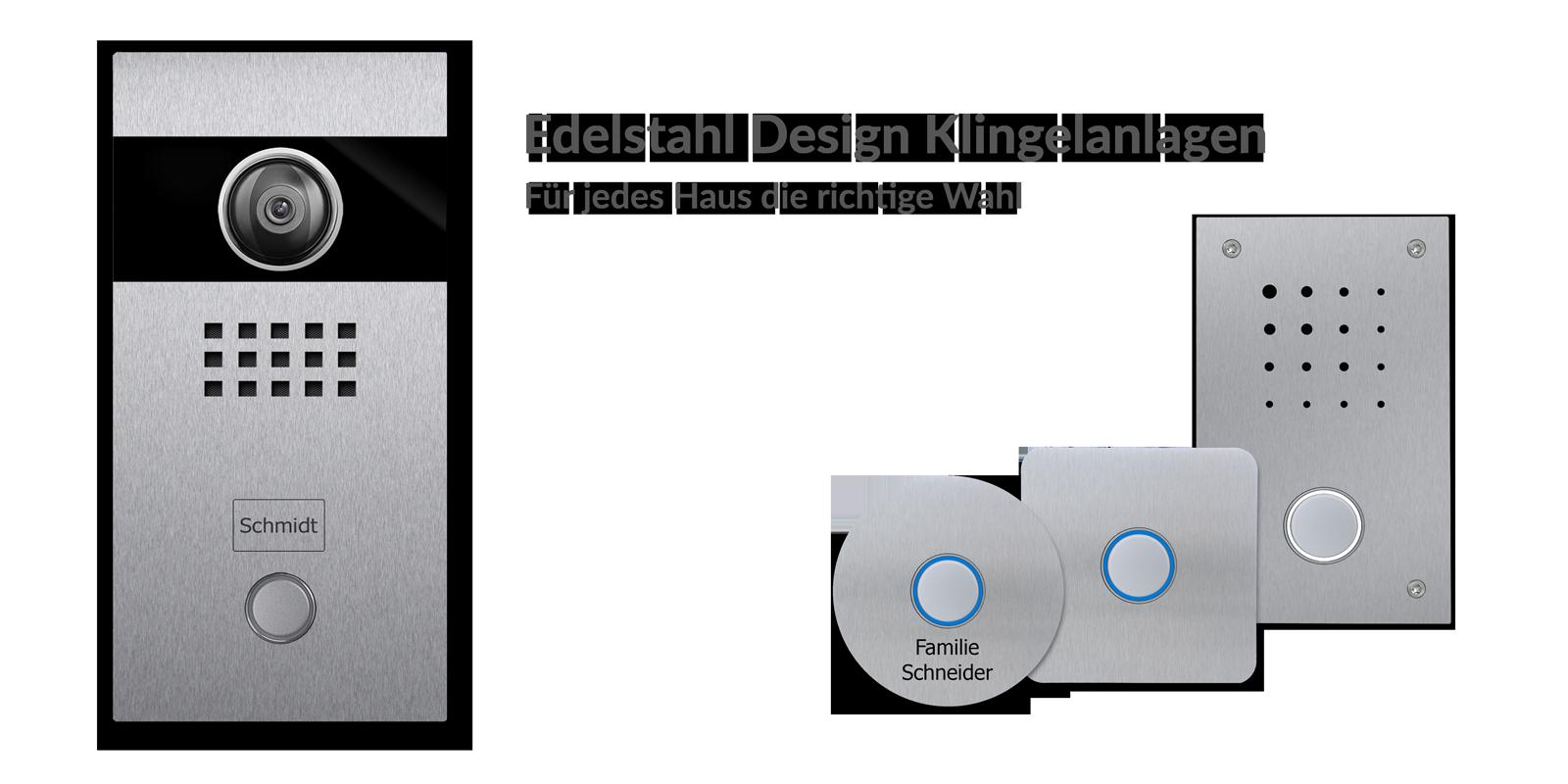 Designer Türklingel Edelstahl