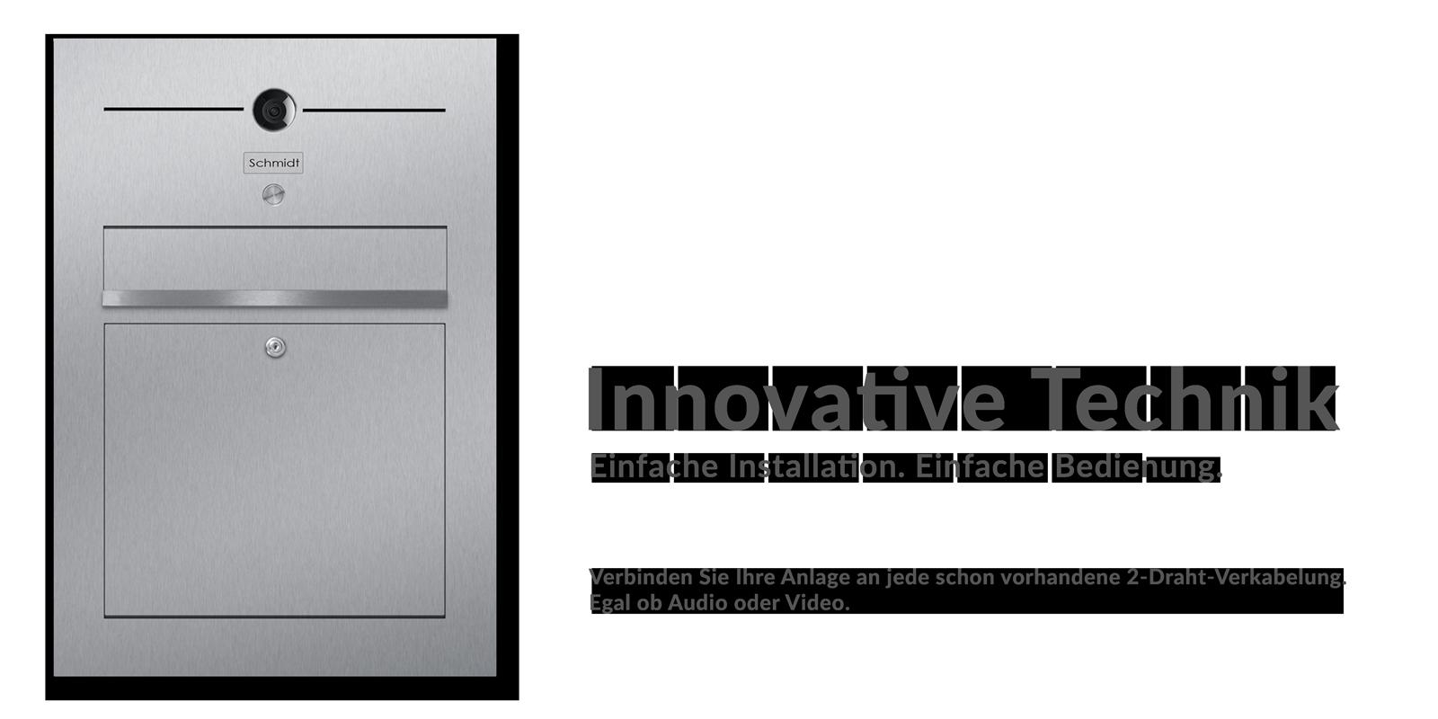Innovative Technik z-e-d e.KBriefkasten Unterputz Edelstahl