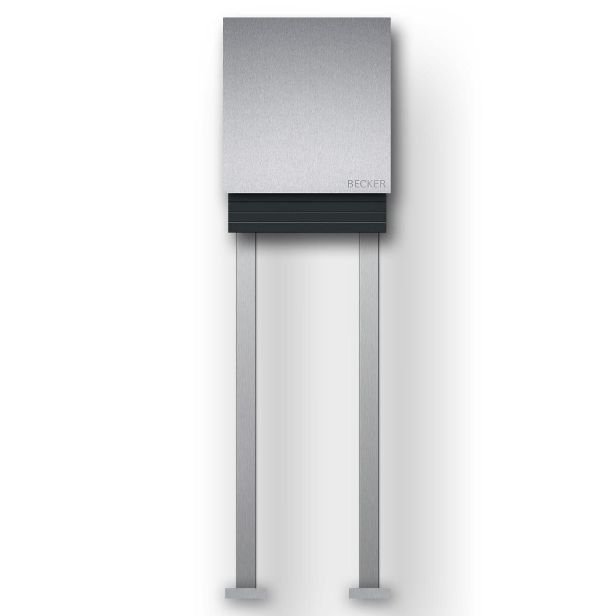 briefkasten edelstahl b1 light freistehend z e. Black Bedroom Furniture Sets. Home Design Ideas