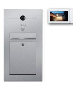 Edelstahl Briefkasten Video Kamera Gegensprechanlage Klingeltaster Unterputz