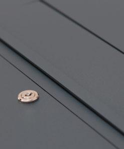 Briefkasten anthrazit Unterputz RAL 7016 Edelstahl