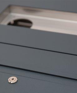 Briefkasten anthrazit Unterputz RAL 7016 Edelstahl GIRA106