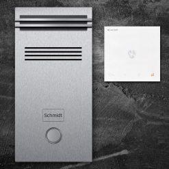Türsprechanlange Klingeltaster LED Audio Edelstahl Innenstation Sprechstelle