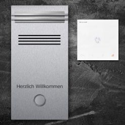 Türsprechanlage Edelstahl Audio LED Klingeltaster Namensbeschriftung Innensprechstelle