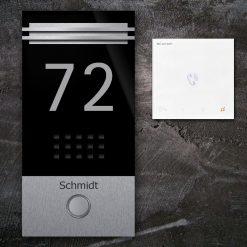 Türsprechanlange Klingeltaster Hausnummer LED Audio Edelstahl Innenstation Sprechstelle