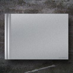Briefkasten Edelstahl Zeitungsfach Design Wandbefestigung Beschriftung