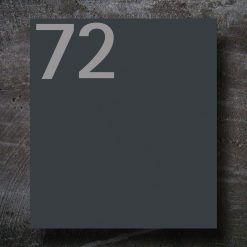 Briefkasten Edelstahl Anthrazit Hausnummer Beschriftung Wandmontage