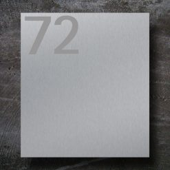 Briefkasten Edelstahl Hausnummer Beschriftung Wandmontage