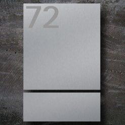 Briefkasten Edelstahl Zeitungsfach Hausnummer Beschriftung Wandmontage