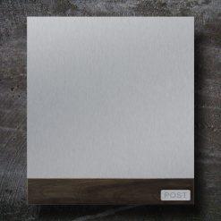 Briefkasten Edelstahl Holz Beschriftung Wandmontage