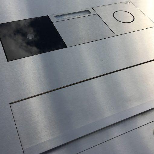 Briefkasten Designbriefkasten Edelstahl Unterputz Gira 106