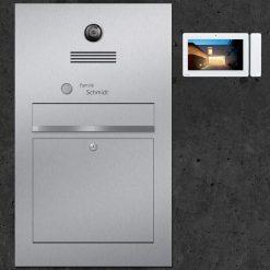 Briefkasten Edelstahl Video Innensprechstelle Türsprechanlage Kamera