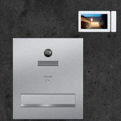 Briefkasten Edelstahl Durchwurf Video Innensprechstelle Türsprechanlage Kamera