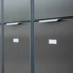 Briefkasten Edelstahl Anthrazit Mehrfamilien Namensschild