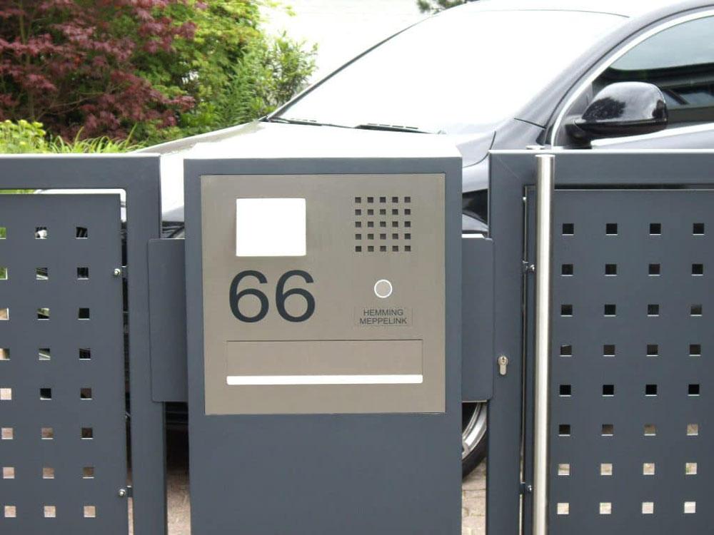 Türsprechanlage Briefeinwurf Hausnummer Edelstahl Audio Sprechstelle