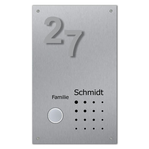 Klingelanlage Namensbeschriftung Hausnummer Edelstahl beleuchtet