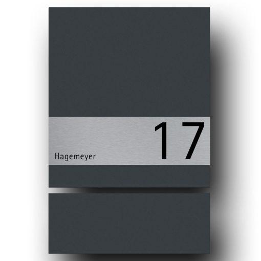 Briefkasten Edelstahl B1 Shield Hausnummer Zeitungsfach